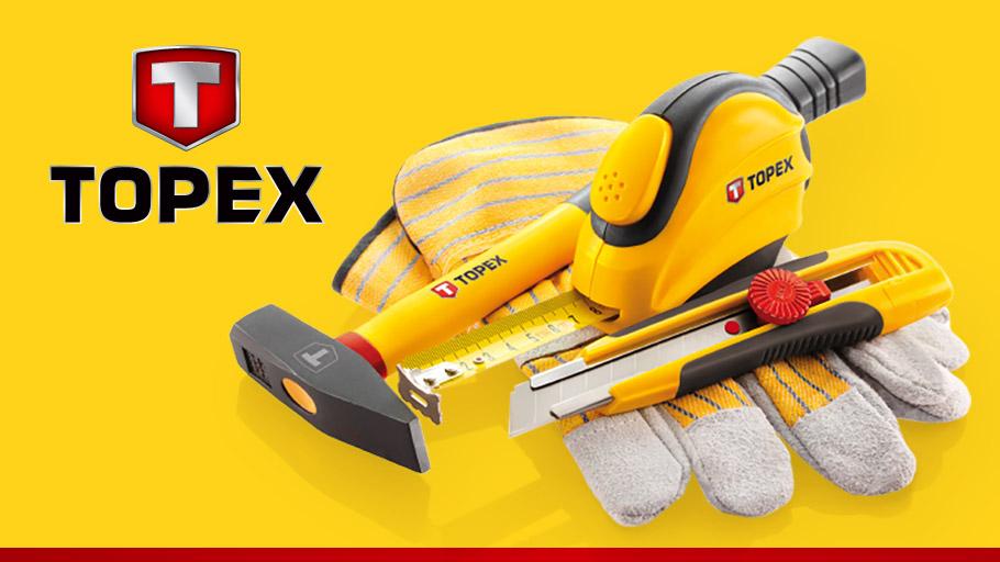 TOPEX, Topex - компания, которая занимается изготовлением ручного инструмента, специализированной одежды и средств защиты. Ознакомится с ассортиментов и порадоваться низким ценам можно в интернет магазине Динар - dinar.com.ua