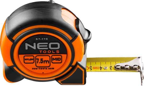 Рулетка NEO, сталева стрiчка 7.5 м x 25 мм, 67-178 купить в интернет-магазине Dinar ☎ (099) 160 34 55 ✓ лучшие цены ✓ бесплатная доставка от 1000 грн ✓ отзывы и фото