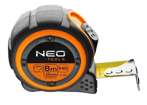 Рулетка NEO, сталева стрiчка 8 м x 25 мм, магнiт, 67-188 купить в интернет-магазине Dinar ☎ (099) 160 34 55 ✓ лучшие цены ✓ бесплатная доставка от 1000 грн ✓ отзывы и фото
