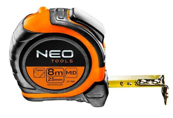 Рулетка NEO, сталева стрiчка 8 м x 25 мм, магнiт, двохстороннiй друк, 67-198 купить в интернет-магазине Dinar ☎ (099) 160 34 55 ✓ лучшие цены ✓ бесплатная доставка от 1000 грн ✓ отзывы и фото