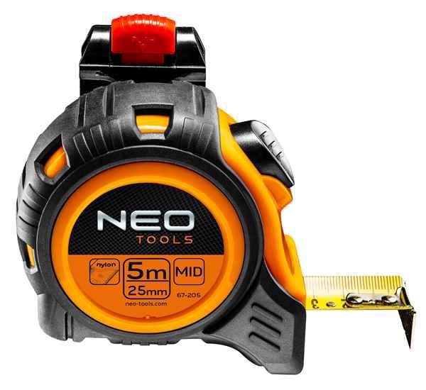 Рулетка NEO, сталева стрiчка, 5 м x 25 мм, з фiксатором selflock, защiпка, 67-205 купить в интернет-магазине Dinar ☎ (099) 160 34 55 ✓ лучшие цены ✓ бесплатная доставка от 1000 грн ✓ отзывы и фото