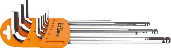 Ключi NEO шестиграннi, 1.5-10 мм, набiр 9 шт, 09-525 купить в интернет-магазине Dinar ☎ (099) 160 34 55 ✓ лучшие цены ✓ бесплатная доставка от 1000 грн ✓ отзывы и фото