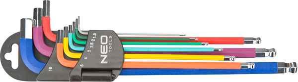 Ключi NEO шестиграннi, 1.5-10 мм, набiр 9 шт.*1 уп., 09-512 купить в интернет-магазине Dinar ☎ (099) 160 34 55 ✓ лучшие цены ✓ бесплатная доставка от 1000 грн ✓ отзывы и фото