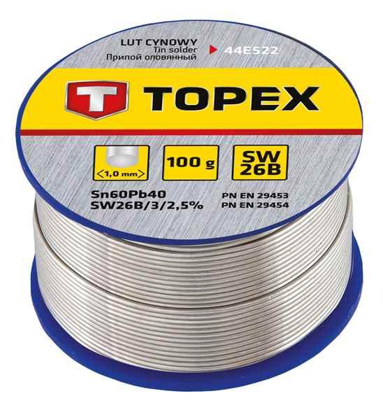 Припiй TOPEX олов'яний 60%Sn, проволока 1.0 мм,100 г, 44E522 купить в интернет-магазине Dinar ☎ (099) 160 34 55 ✓ лучшие цены ✓ бесплатная доставка от 1000 грн ✓ отзывы и фото