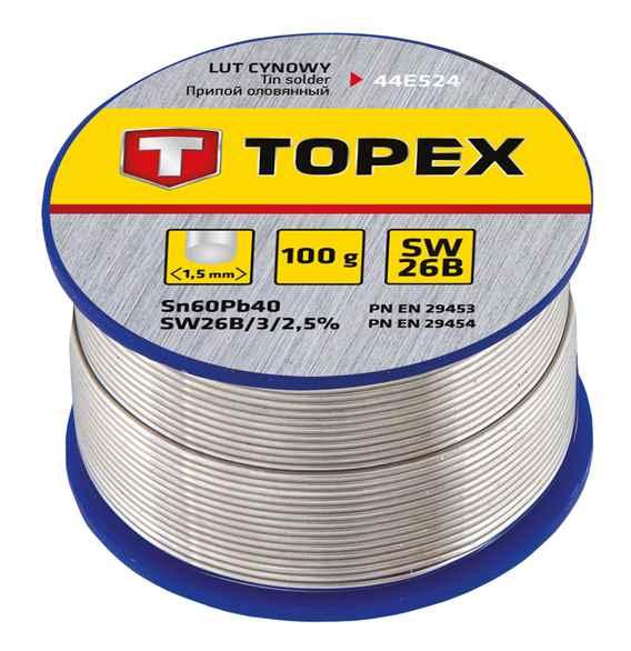 Припiй TOPEX олов'яний 60%Sn, проволока 1.5 мм,100 г, 44E524 купить в интернет-магазине Dinar ☎ (099) 160 34 55 ✓ лучшие цены ✓ бесплатная доставка от 1000 грн ✓ отзывы и фото
