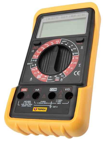 Мультиметр TOPEX цифровий 102, 94W102 купить в интернет-магазине Dinar ☎ (099) 160 34 55 ✓ лучшие цены ✓ бесплатная доставка от 1000 грн ✓ отзывы и фото