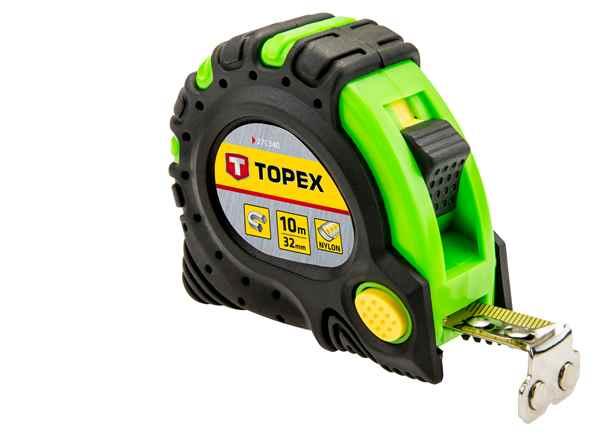 Рулетка TOPEX, сталева стрiчка  10 м x 32 мм, магнiт, 27C340 купить в интернет-магазине Dinar ☎ (099) 160 34 55 ✓ лучшие цены ✓ бесплатная доставка от 1000 грн ✓ отзывы и фото
