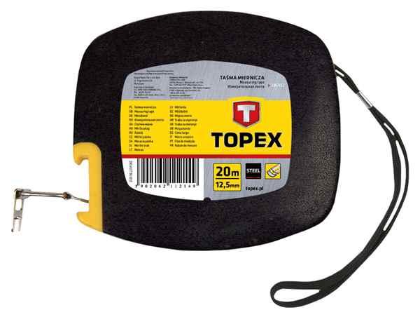 Стрiчка вимiрювальна TOPEX сталева, 20 м, 28C412 купить в интернет-магазине Dinar ☎ (099) 160 34 55 ✓ лучшие цены ✓ бесплатная доставка от 1000 грн ✓ отзывы и фото