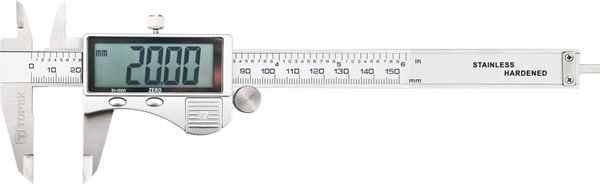 Штангенциркуль TOPEX цифровий, 150 мм, великий iндикатор, 31C624 купить в интернет-магазине Dinar ☎ (099) 160 34 55 ✓ лучшие цены ✓ бесплатная доставка от 1000 грн ✓ отзывы и фото