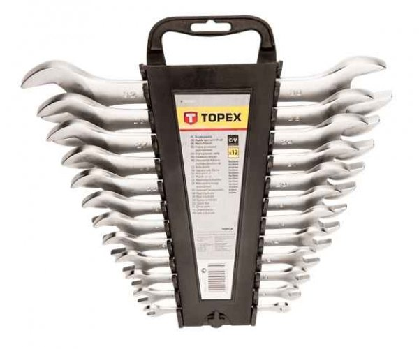 Ключ TOPEXi з вiдкритим зевом, двостороннi,  6 x 32 мм, набiр 12 шт.*1 уп., 35D657 купить в интернет-магазине Dinar ☎ (099) 160 34 55 ✓ лучшие цены ✓ бесплатная доставка от 1000 грн ✓ отзывы и фото