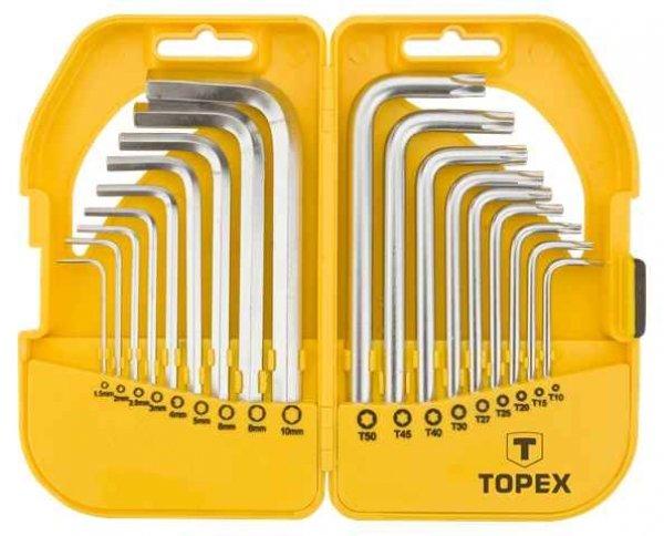 Ключi TOPEX шестиграннi HEX i Torx, набiр 18 шт.*1 уп., 35D952 купить в интернет-магазине Dinar ☎ (099) 160 34 55 ✓ лучшие цены ✓ бесплатная доставка от 1000 грн ✓ отзывы и фото