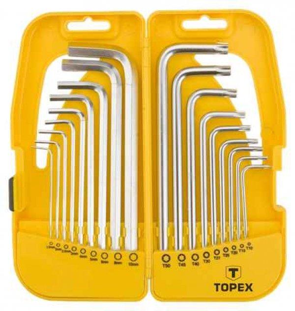 Ключi TOPEX шестиграннi HEX i Torx, набiр 18 шт.*1 уп., 35D953 купить в интернет-магазине Dinar ☎ (099) 160 34 55 ✓ лучшие цены ✓ бесплатная доставка от 1000 грн ✓ отзывы и фото