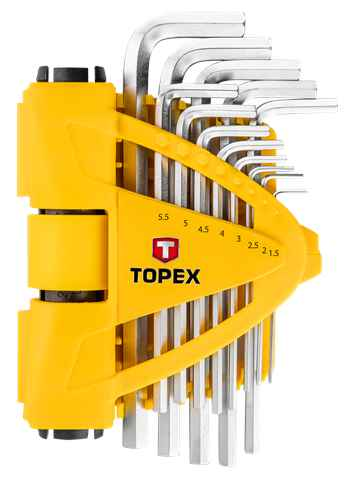 Ключi шестиграннi TOPEX 1.5-10 мм, набiр 13 шт., 35D970 купить в интернет-магазине Dinar ☎ (099) 160 34 55 ✓ лучшие цены ✓ бесплатная доставка от 1000 грн ✓ отзывы и фото