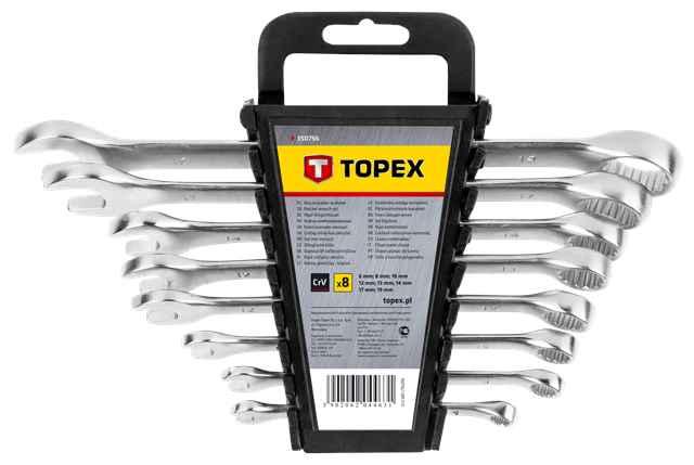 Набiр ключiв комбiнованих TOPEX, 6-19 мм,  8 шт., 35D756 купить в интернет-магазине Dinar ☎ (099) 160 34 55 ✓ лучшие цены ✓ бесплатная доставка от 1000 грн ✓ отзывы и фото