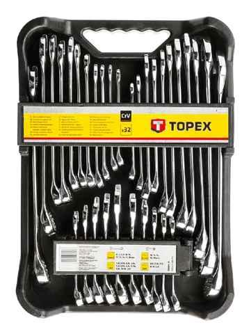 Набiр ключiв комбiнованих TOPEX, 6-19 мм, набiр 32 шт., 35D362 купить в интернет-магазине Dinar ☎ (099) 160 34 55 ✓ лучшие цены ✓ бесплатная доставка от 1000 грн ✓ отзывы и фото