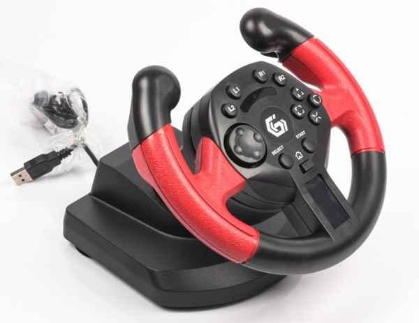 Купить Ігровий руль Gembird STR-UV-01 з педалями ☎ (067) 467 25 28 ✓ лучшие цены ✓ постоянные акции и скидки ✓ отзывы ✓ точка выдачи в Киеве