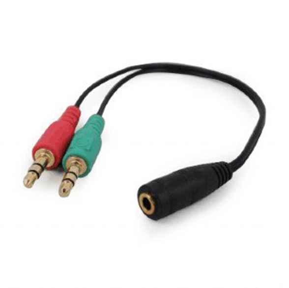 Купить Аудіо кабель-перехідник CCA-418 з 4-х контактної 3.5 мм вилки на дві 3.5 мм розетки (стерео аудіо + моно мікрофон) ☎ (067) 467 25 28 ✓ лучшие цены ✓ постоянные акции и скидки ✓ отзывы ✓ точка выдачи в Киеве