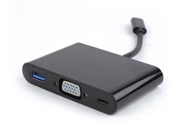 Купить Адаптер-перехідник USB Type-C на VGA/USB 3/Type-C живлення ☎ (067) 467 25 28 ✓ лучшие цены ✓ постоянные акции и скидки ✓ отзывы ✓ точка выдачи в Киеве