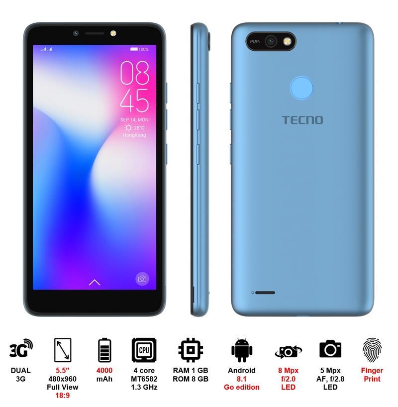 Смартфон TECNO B1P DUALSIM City Blue в интернет-магазине Dinar ☎ (099) 160 34 55 ✓ лучшие цены ✓ бесплатная доставка от 1000 грн ✓ отзывы и фото