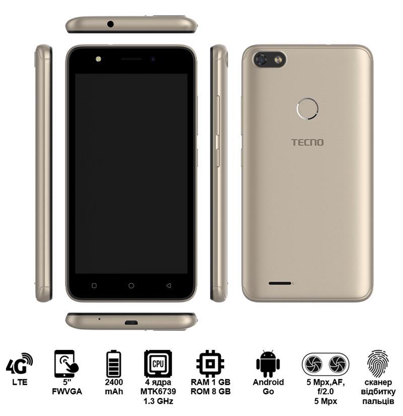 Купить Смартфон TECNO F2 LTE DUALSIM Champagne Gold недорого ☎ (066) 882 49 97 ✓ лучшие цены ✓ бесплатная доставка по Украине ✓ отзывы и фото ✓ точка выдачи в Киеве