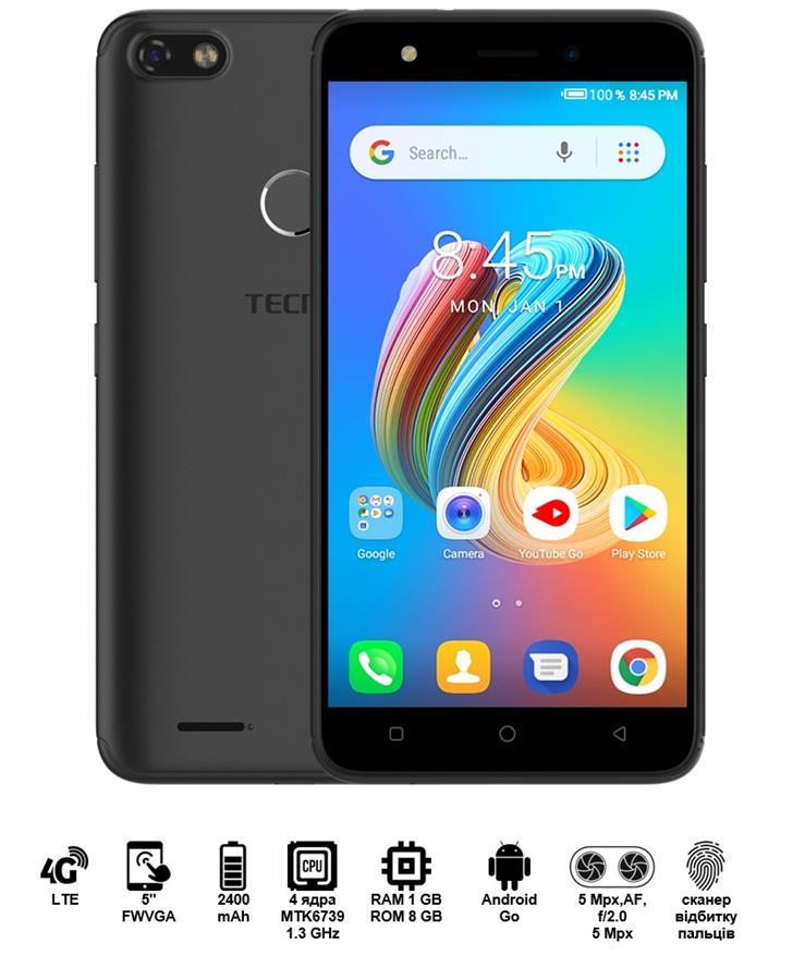 Купить Смартфон TECNO F2 LTE DUALSIM Midnight Black недорого ☎ (066) 882 49 97 ✓ лучшие цены ✓ бесплатная доставка по Украине ✓ отзывы и фото ✓ точка выдачи в Киеве