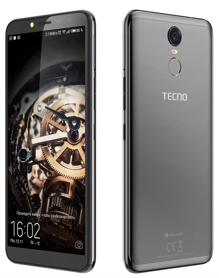 Купить Смартфон TECNO Pouvoir 2 Pro 3/32GB (LA7 pro) DUALSIM Phantom Black недорого ☎ (066) 882 49 97 ✓ лучшие цены ✓ бесплатная доставка по Украине ✓ отзывы и фото ✓ точка выдачи в Киеве